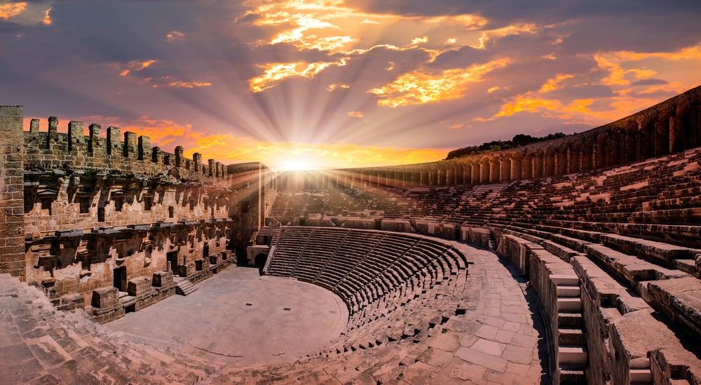 Turkey - Antalya - Aspendos amphitheater, Antalya Turkey