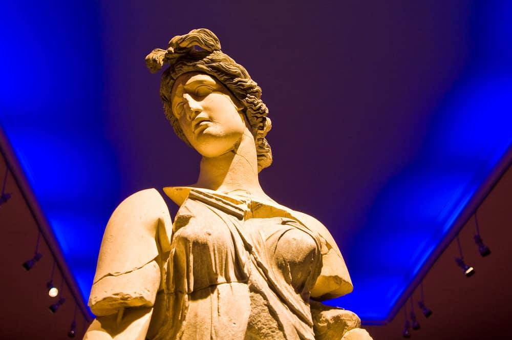 Turkey - Antalya - Dancer statue from ancient Perge city at the Antalya Museum. 200 B.C.