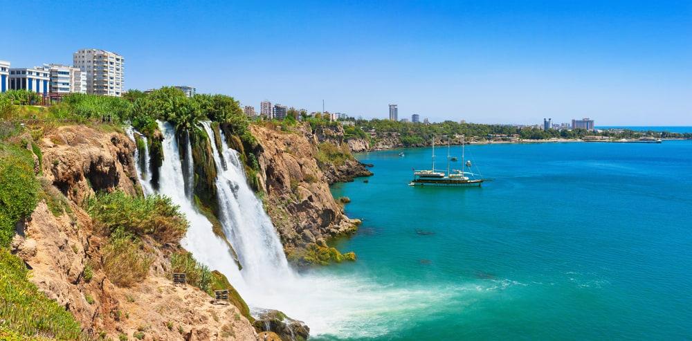 Turkey - Antalya - Lower Duden waterfall (Karpuzkald?ran waterfall). Lara, Antalya, Turkey