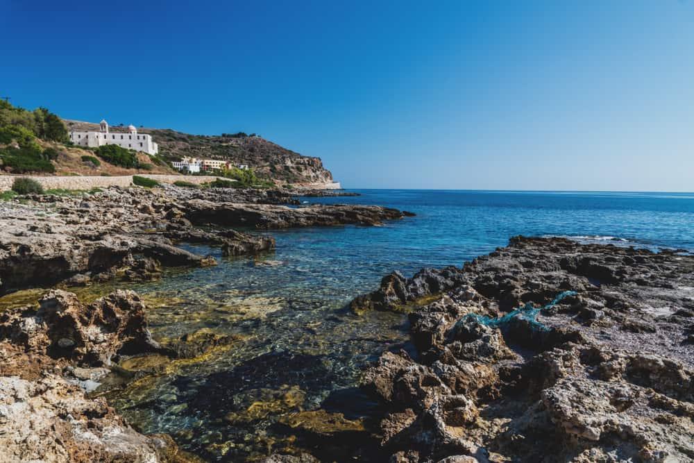 Greece - Crete -Gonia Odigitria Monastery in crete in sunny day