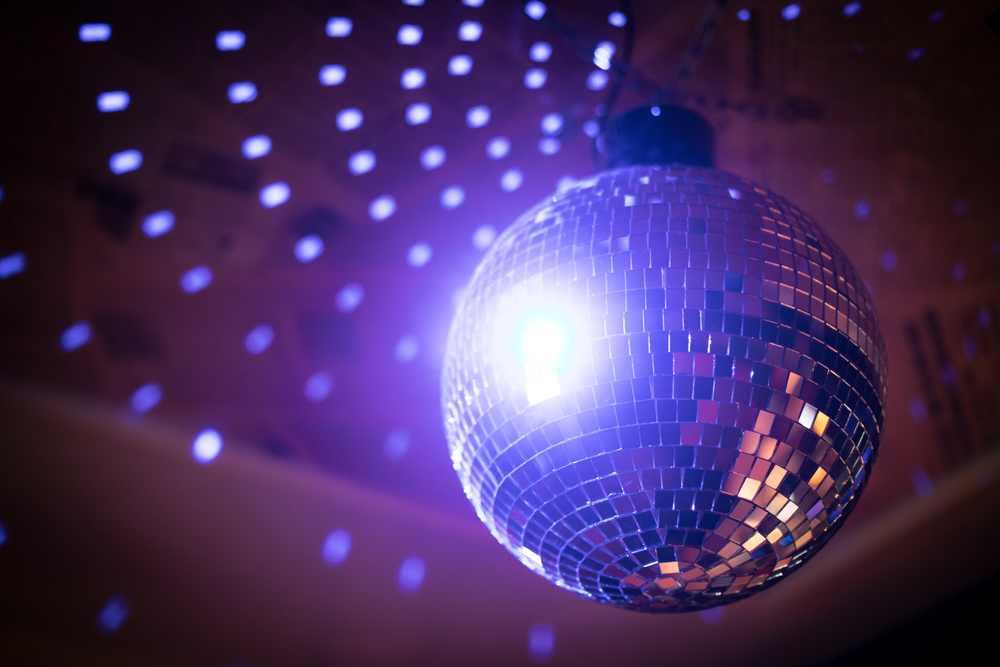 Greece - Crete - Color image of a shiny disco ball in a night club.