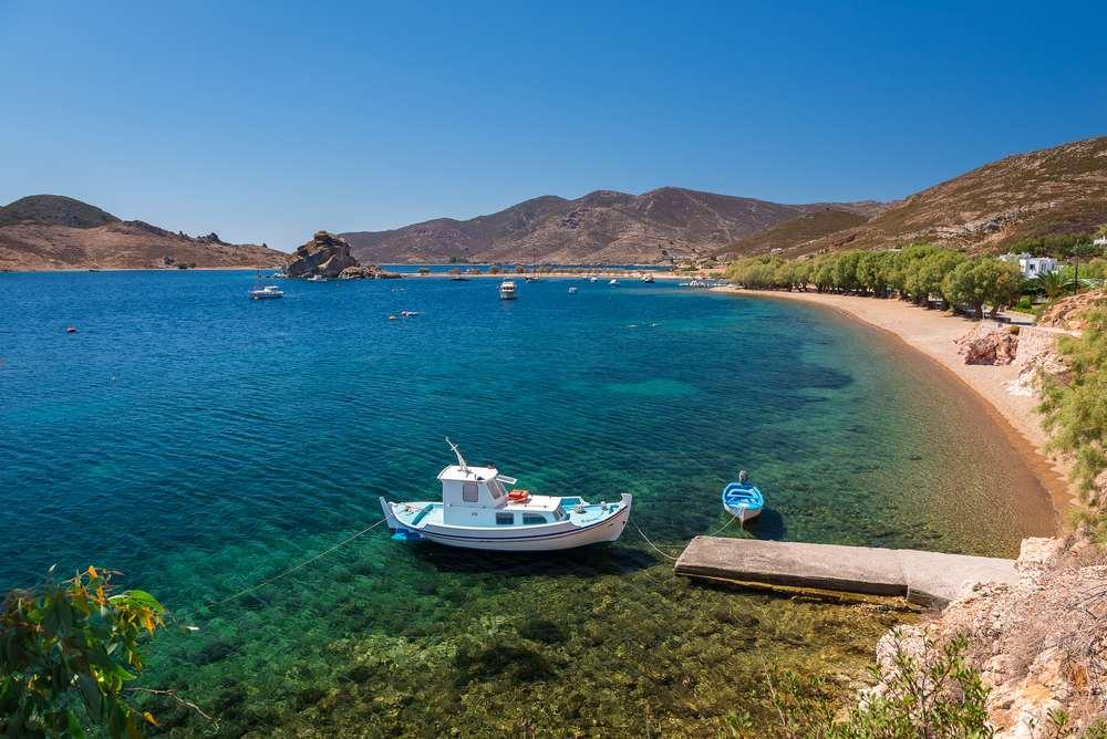 Greece - Crete - Grikos beach in Patmos island