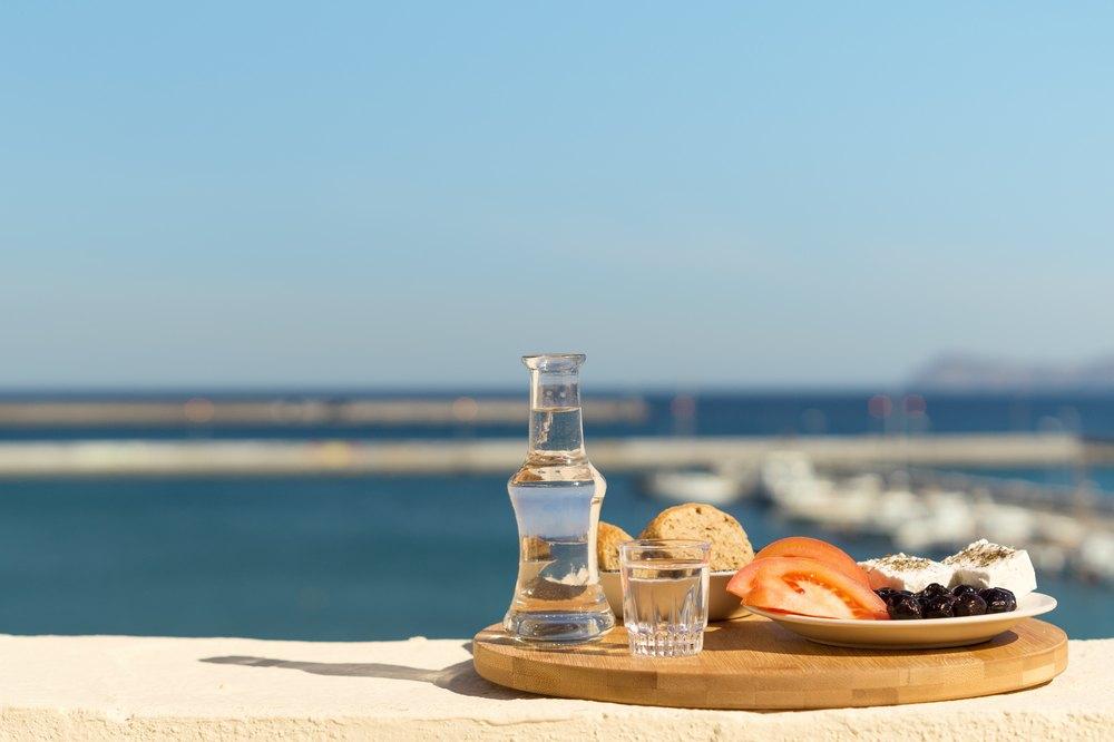 Greece - Crete - raki and snack