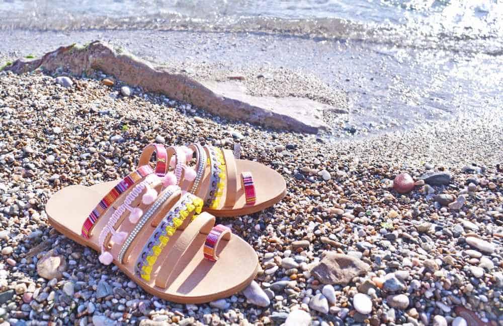 Greece - Mykonos - bohemian greek sandals