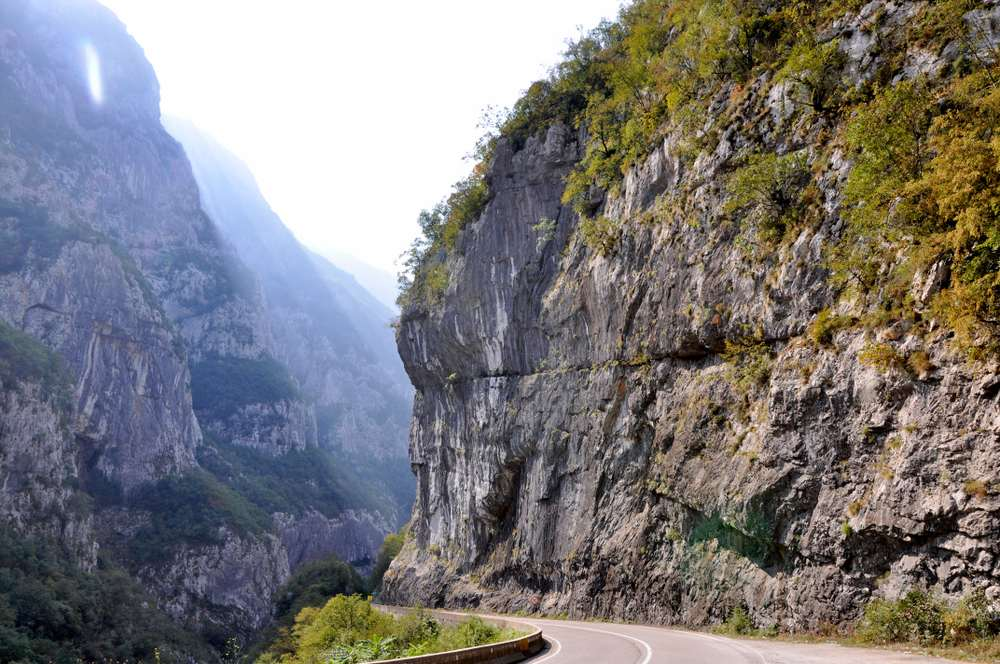 Montenegro - A picturesque journey along the roads of Montenegro among rocks and tunnels.