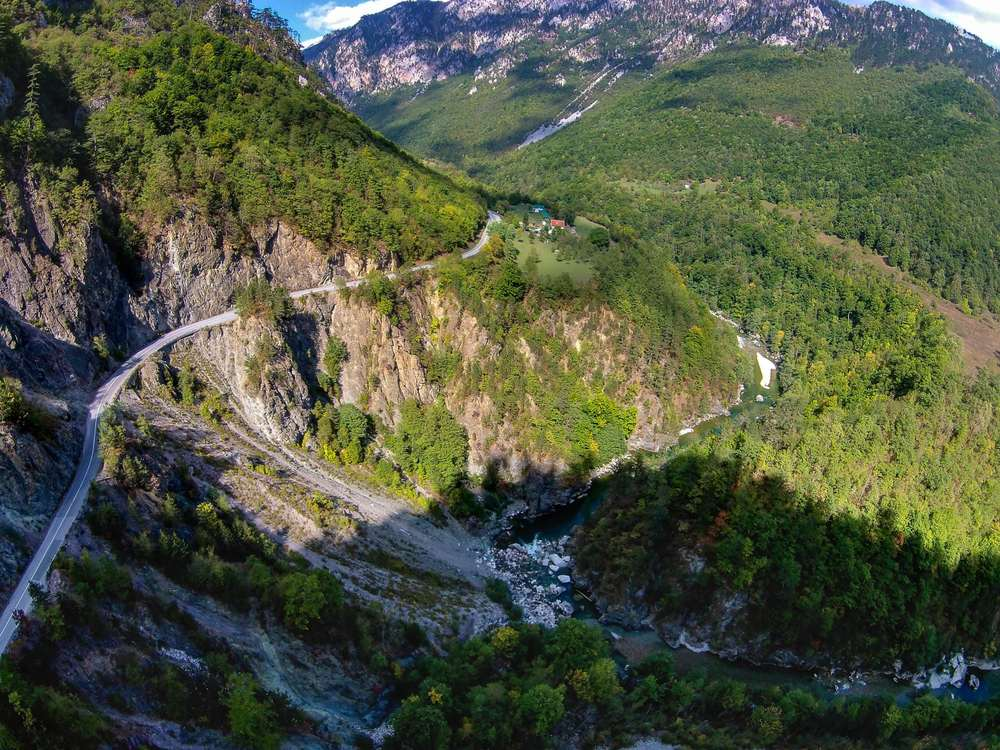 Montenegro - Canyon of the Moraca river. Montenegro