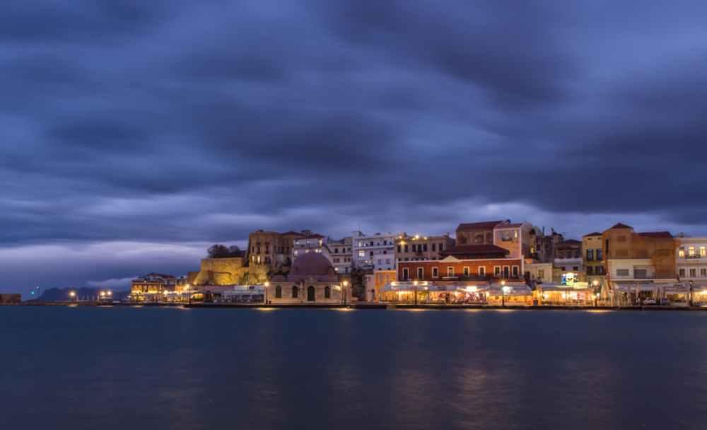greece -crete - Winter in the old port of Chania, Crete, Greece