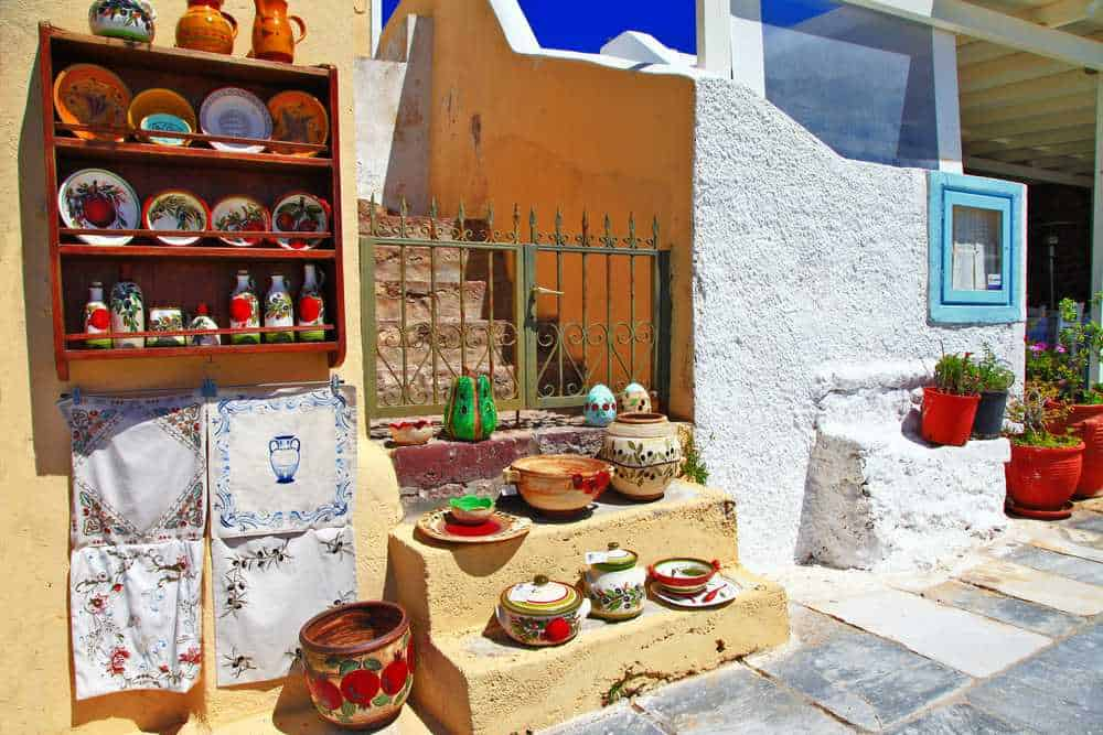 Greece - Santorini - traditional streets of Santorini