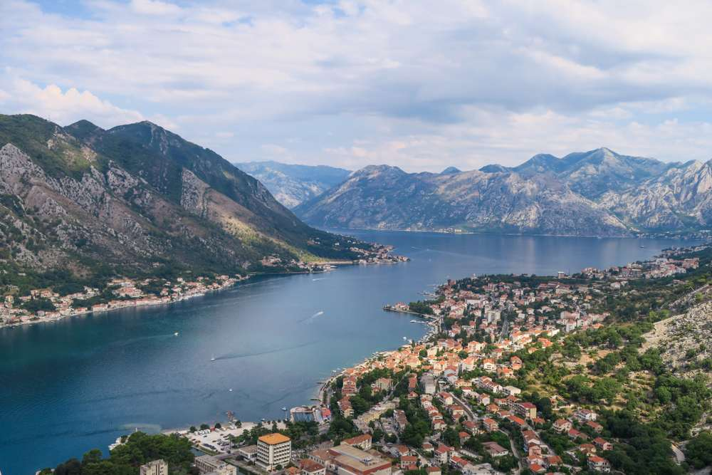 Montenegro - Panoramic view of Kotor's bay and old town, Montenegro