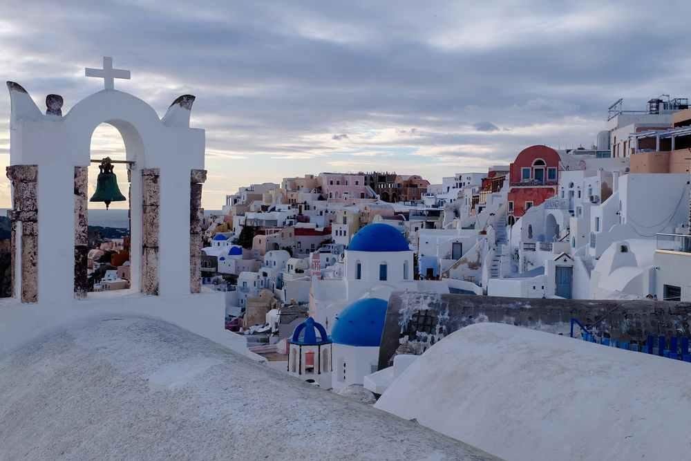 Greece - Santorini - View of Santorini during the winter