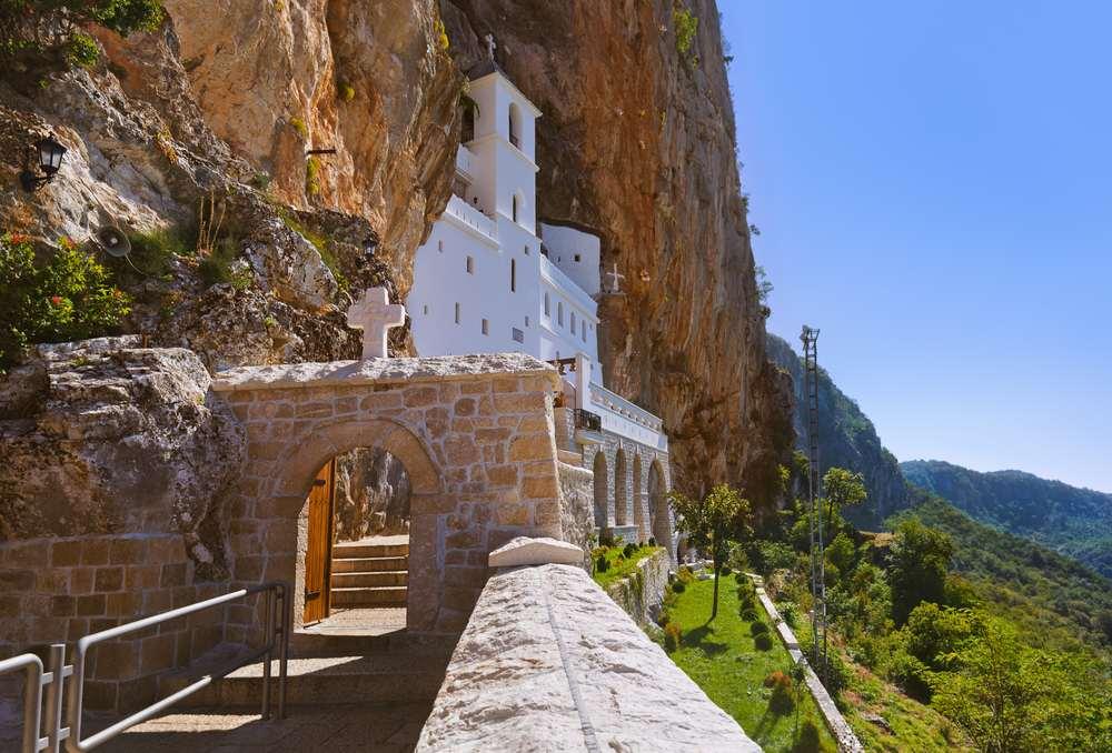 Montenegro - Ostrog Monastery - Ostrog monastery - Montenegro - architecture travel background