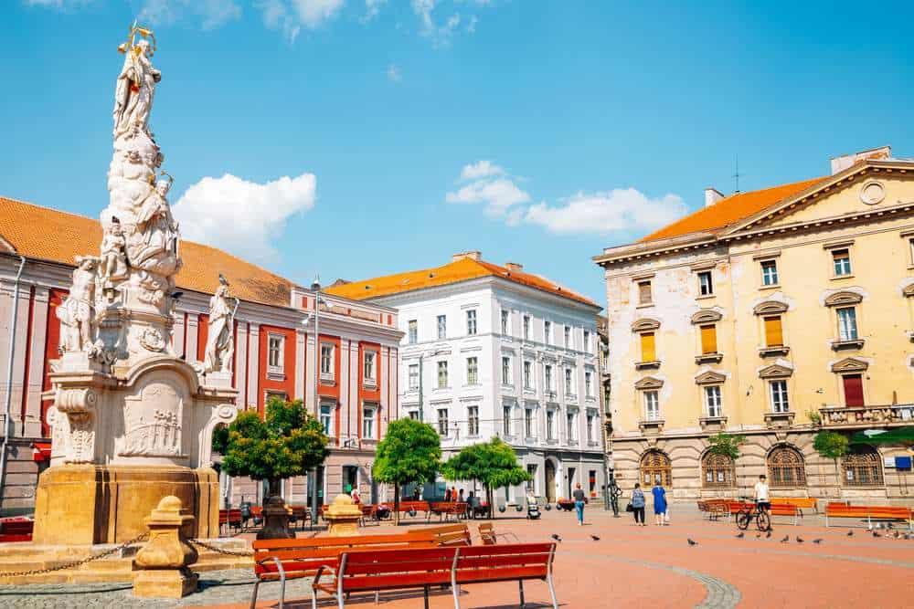 Romania - Timisoara - Liberty's Square in Timisoara, Romania