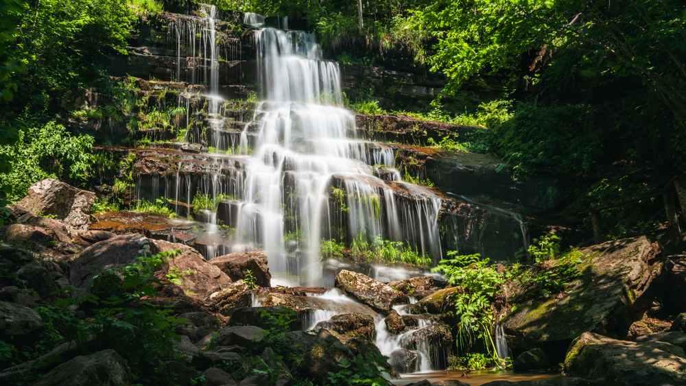 Serbia -Waterfall Tupavica in Serbia, Stara planina
