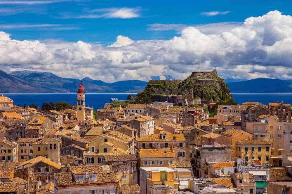 Greece - Corfu - View of Corfu Old Town, Greece