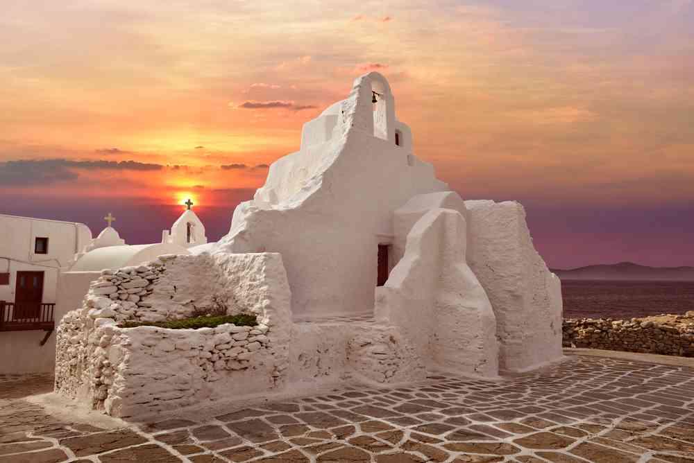 greece - mykonos - A 14th century Paraportiani Church on the island of Mykonos, Greece.