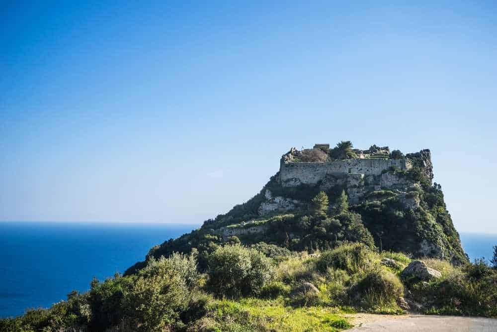 Greece - Corfu - Angelocastro fortress in Corfu island, Greece