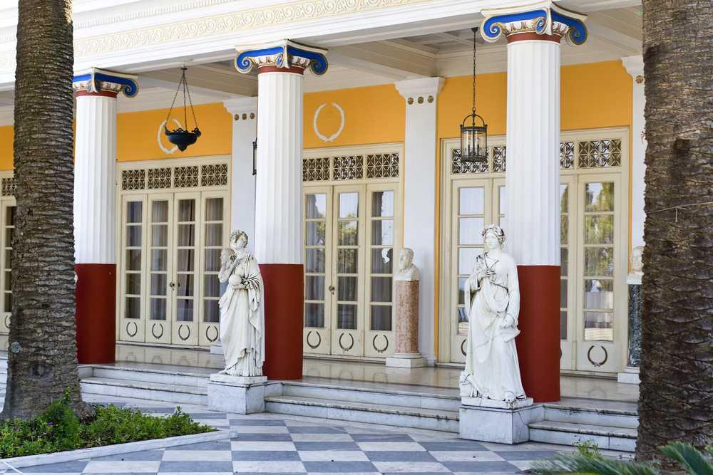 Greece - Corfu - Achilleion palace at Corfu island in Greece