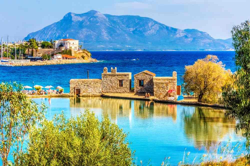 Datca Harbour view. Datca is populer tourist destination in Turkey.
