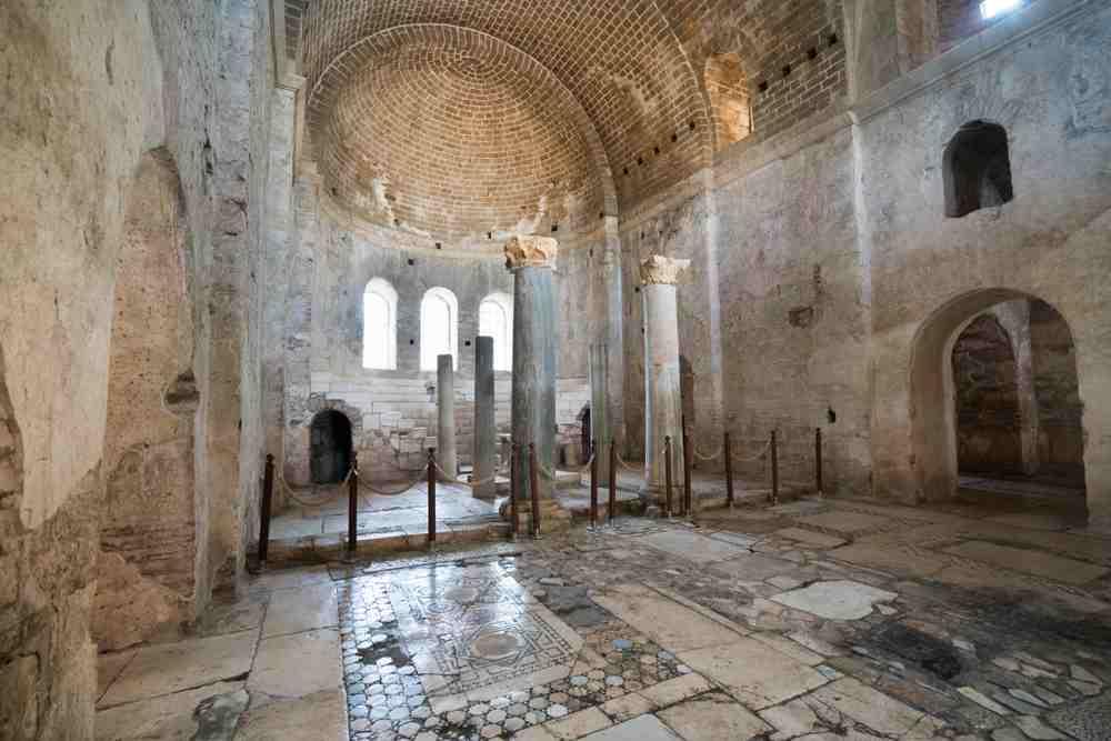 Turkey - Kas  - Saint Nicholas (Santa Claus) Church in Demre. It is rumored that St. Nicholas, is the same person as Santa Claus. Internal view of the church. Very close to the ancient city of Myra. Antalya / TURKEY