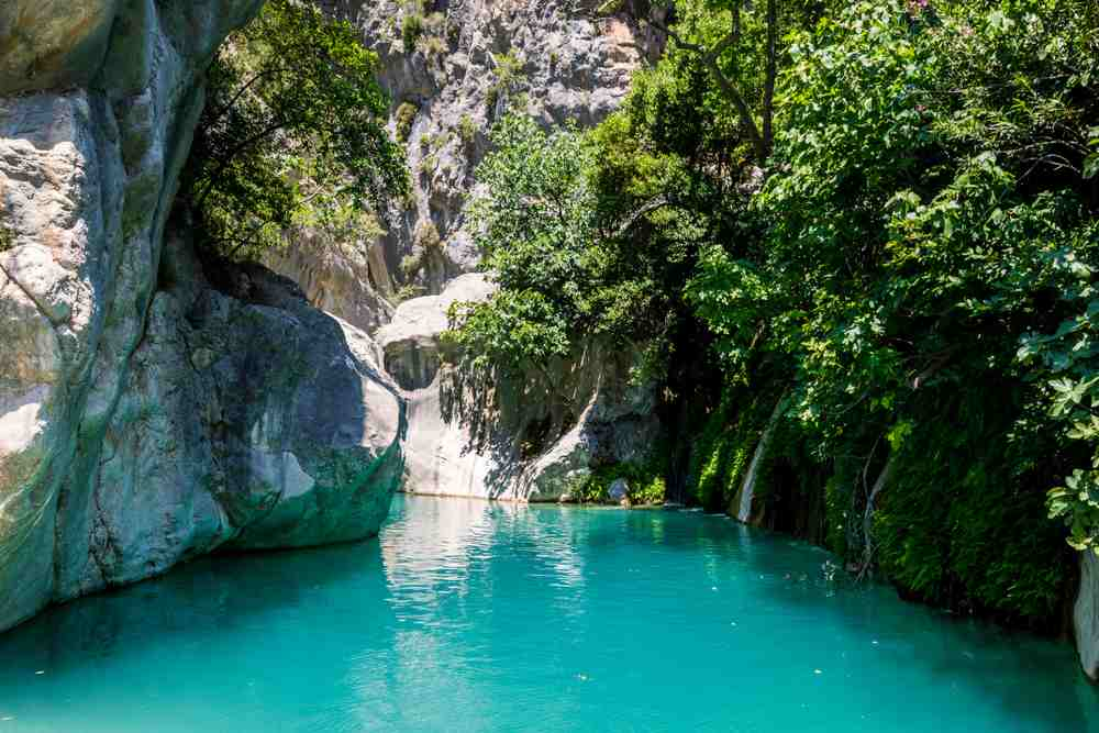 turkey - kas - Saklikent Canyon is the deepest canyon in southern Turkey, Goynuk canyon Saklikent, located in District of Kemer, Antalya Province