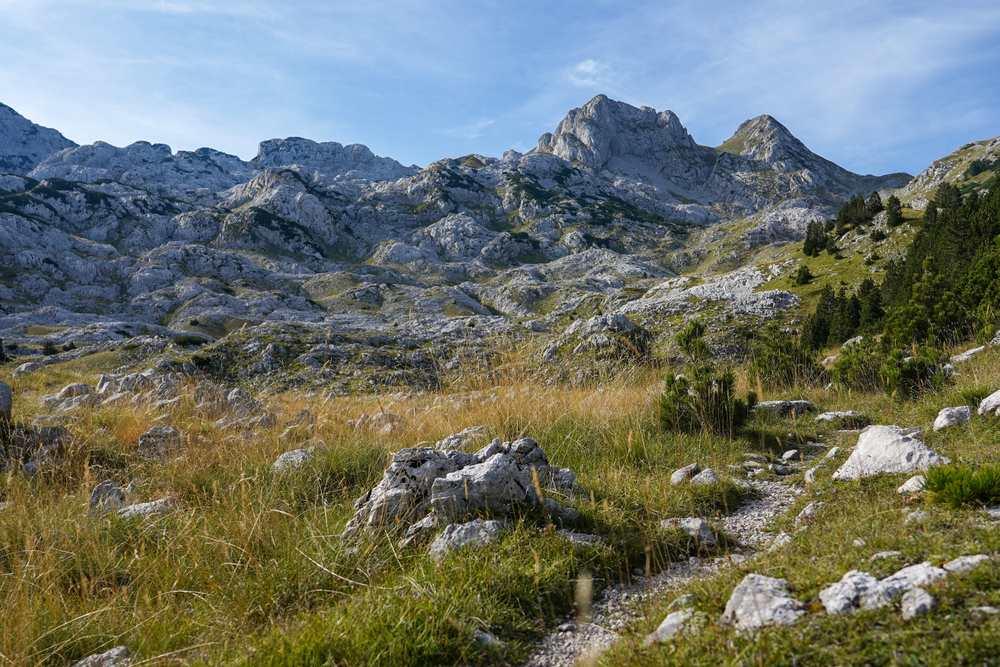 Bosnia - Hiking trail on Prenj mountain in Bosnia and Hercegovina. The wild beauty of the Balkans.