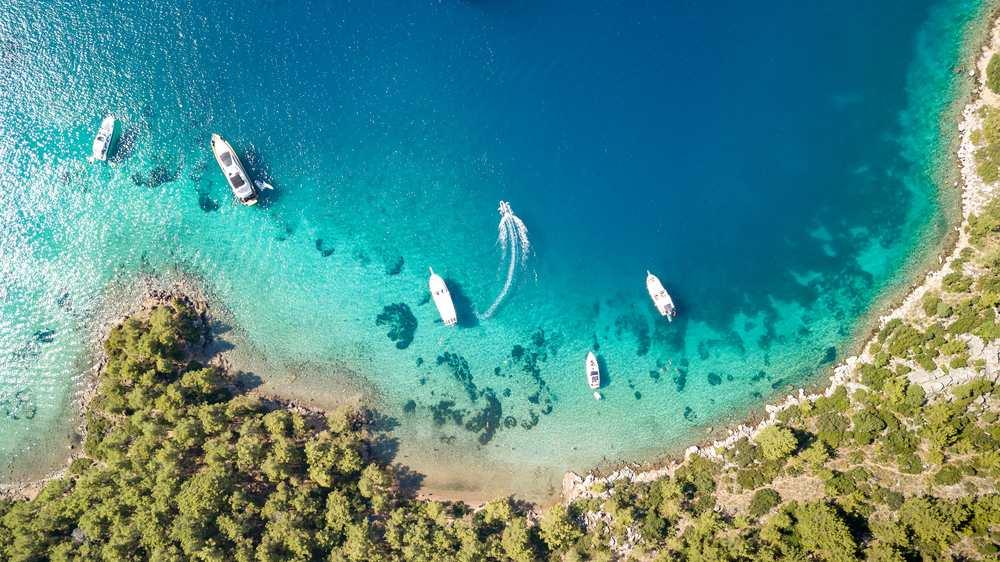 Turkey - Marmara - Selimiye beaches aerial view with drone