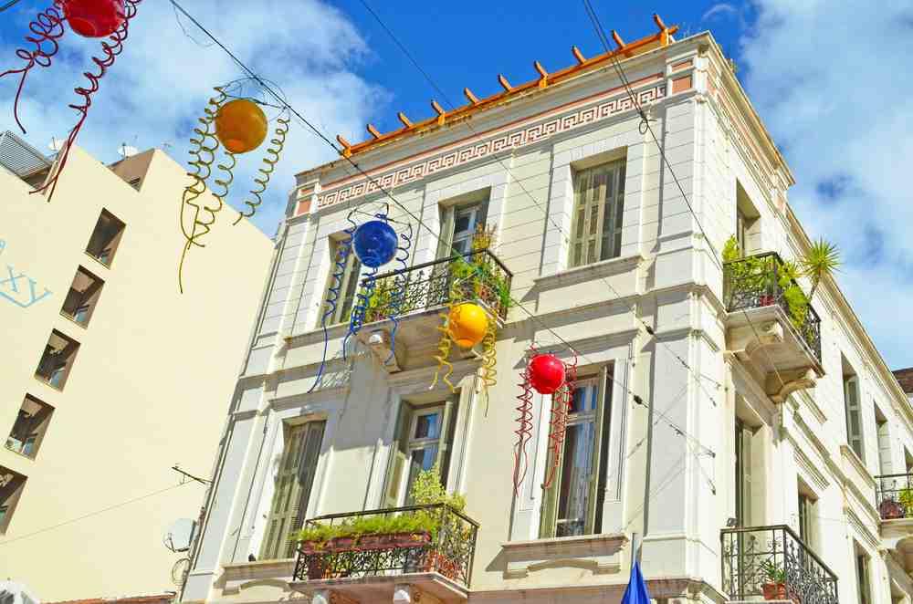 Greece - Patra - building in Patra Greece - carnival season