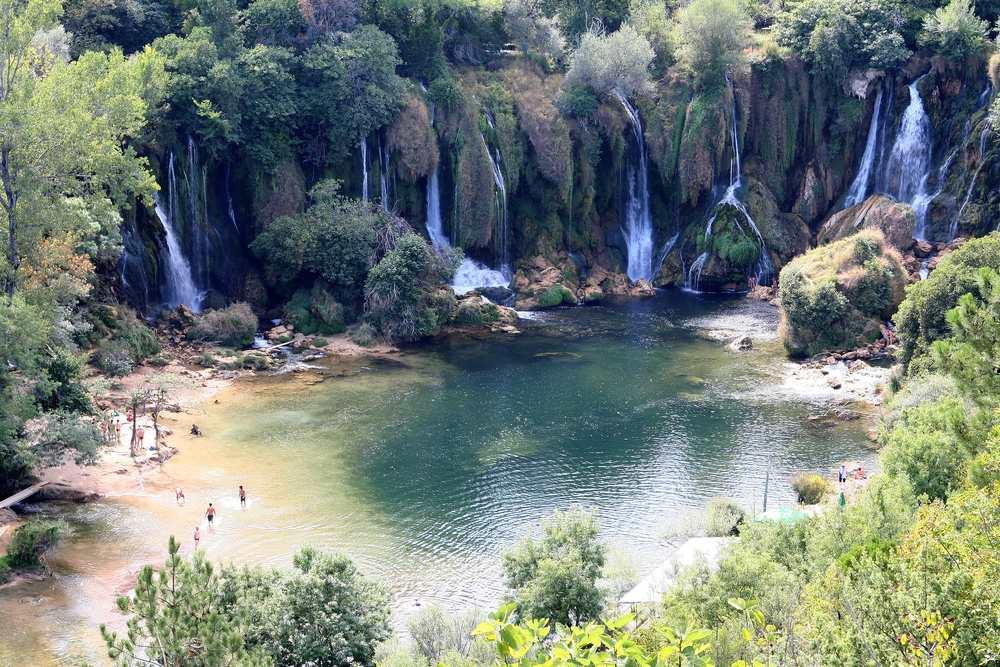 Bosnia and Herzegovina - Waterfalls in Kravica near Ljubuski in Bosnia and Herzegovina