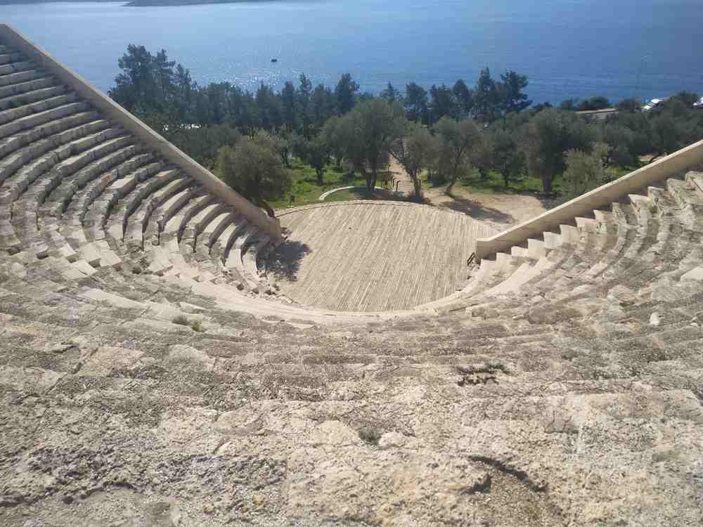 Turkey - Kas - Remains of Antiphellos Theatre at location Kas, Antalya, Turkey