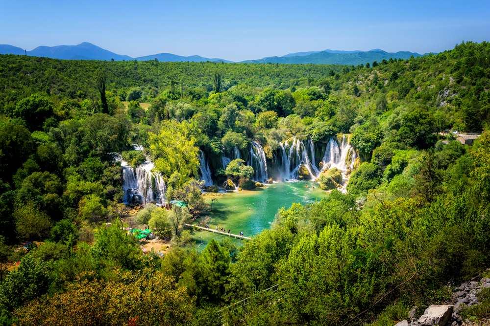 Bosnia and Herzegovina - Kravice waterfall on the Trebizat River in Bosnia and Herzegovina