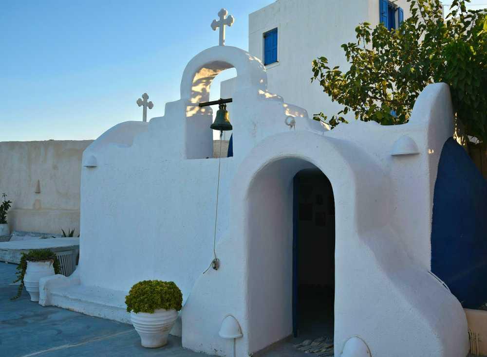 Greece - Santorini - Greek Orthodox church in Santorini island, Greece.