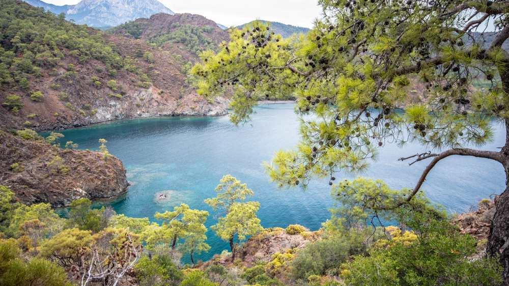 Trekking between Olympos to Boncuk Bay on Lycian Way on South Coast of Turkey