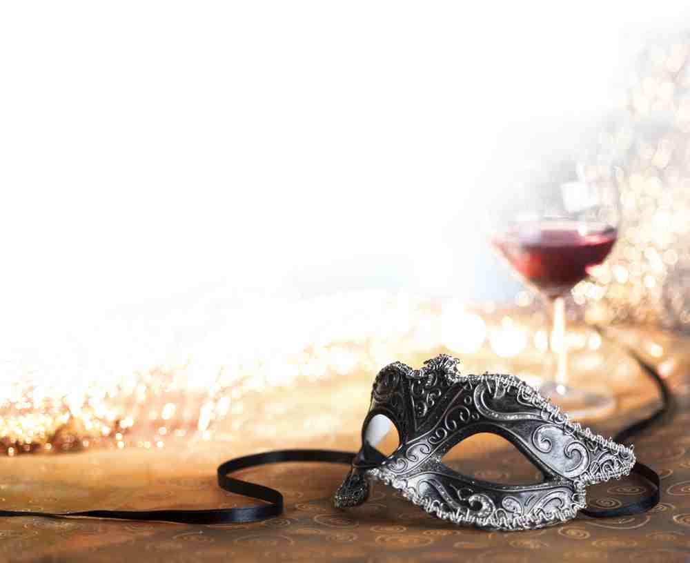 Greece - Patra - venetian carnival mask with wine