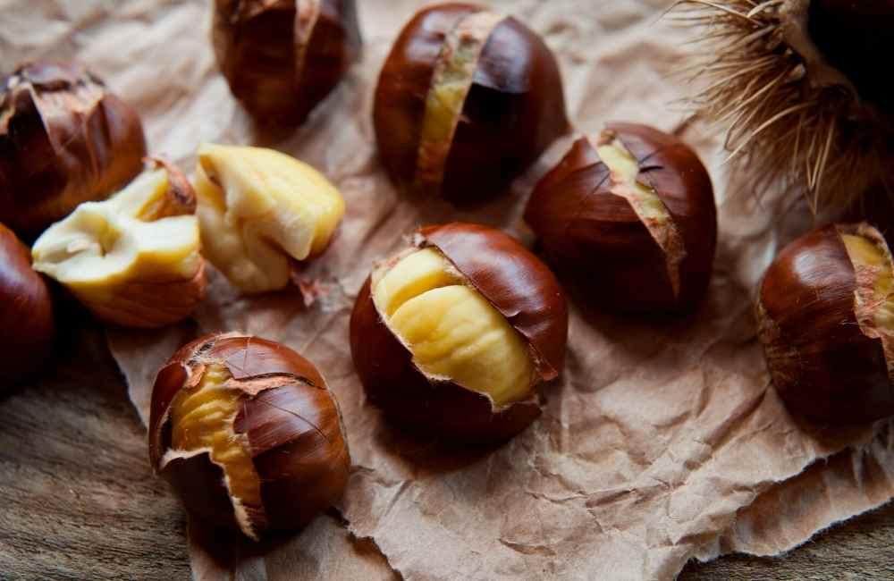 Street food from Greece - chestnut